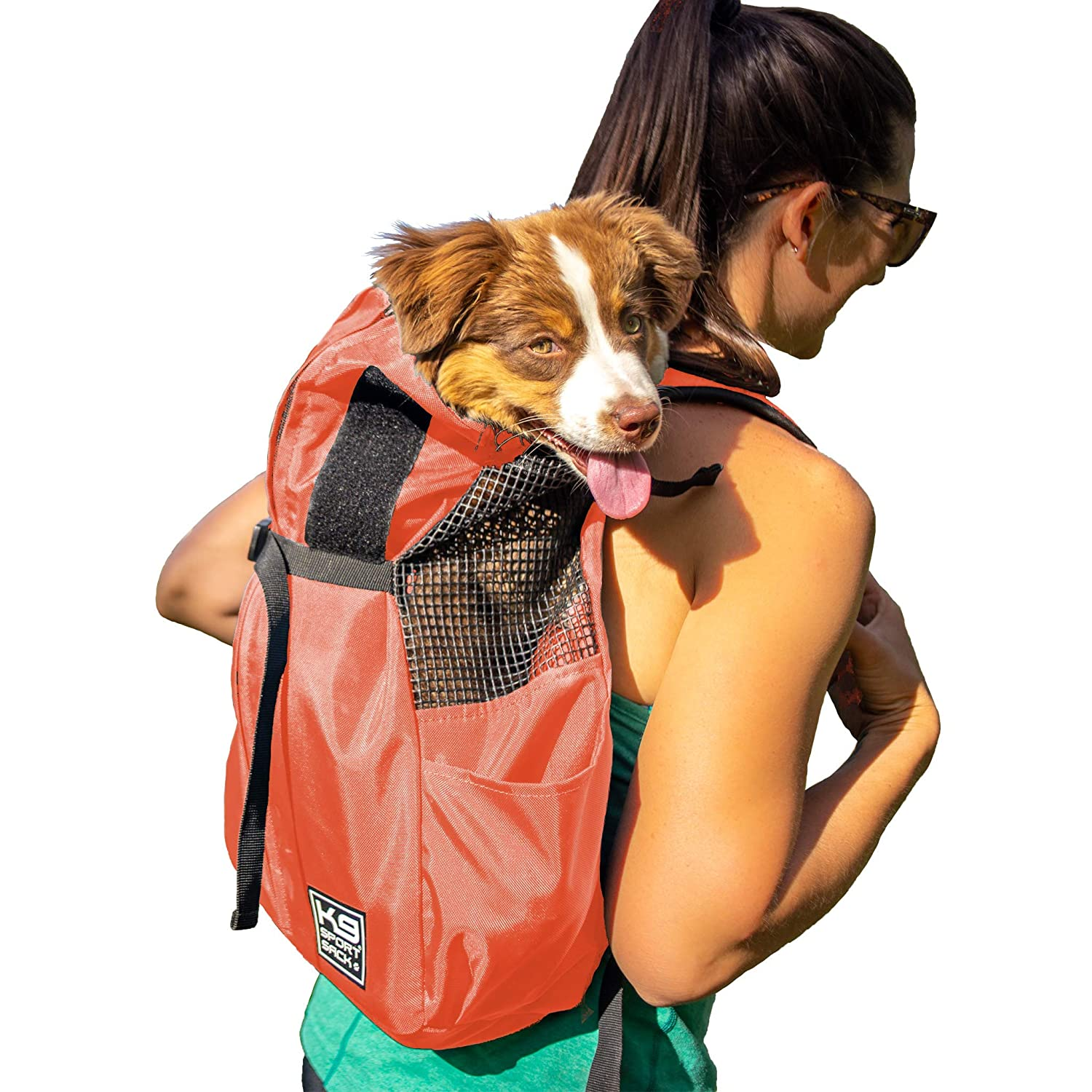 K9 Sport Sack Trainer Front Facing Adjustable Dog Backpack Carrier with Storage Bag Veterinarian Approved Dog Carrier Dog Backpack for Small and Medium Pets Large, Irongate