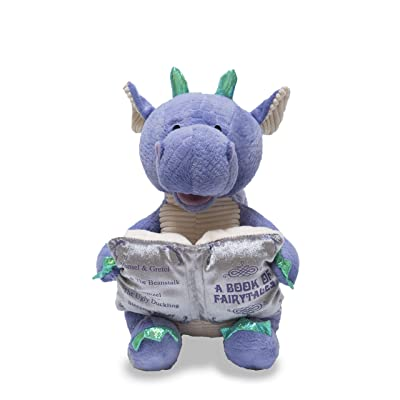 "Cuddle Barn | Dalton the Storytelling Dragon 12"" Animated Stuffed Animal Plush Toy 