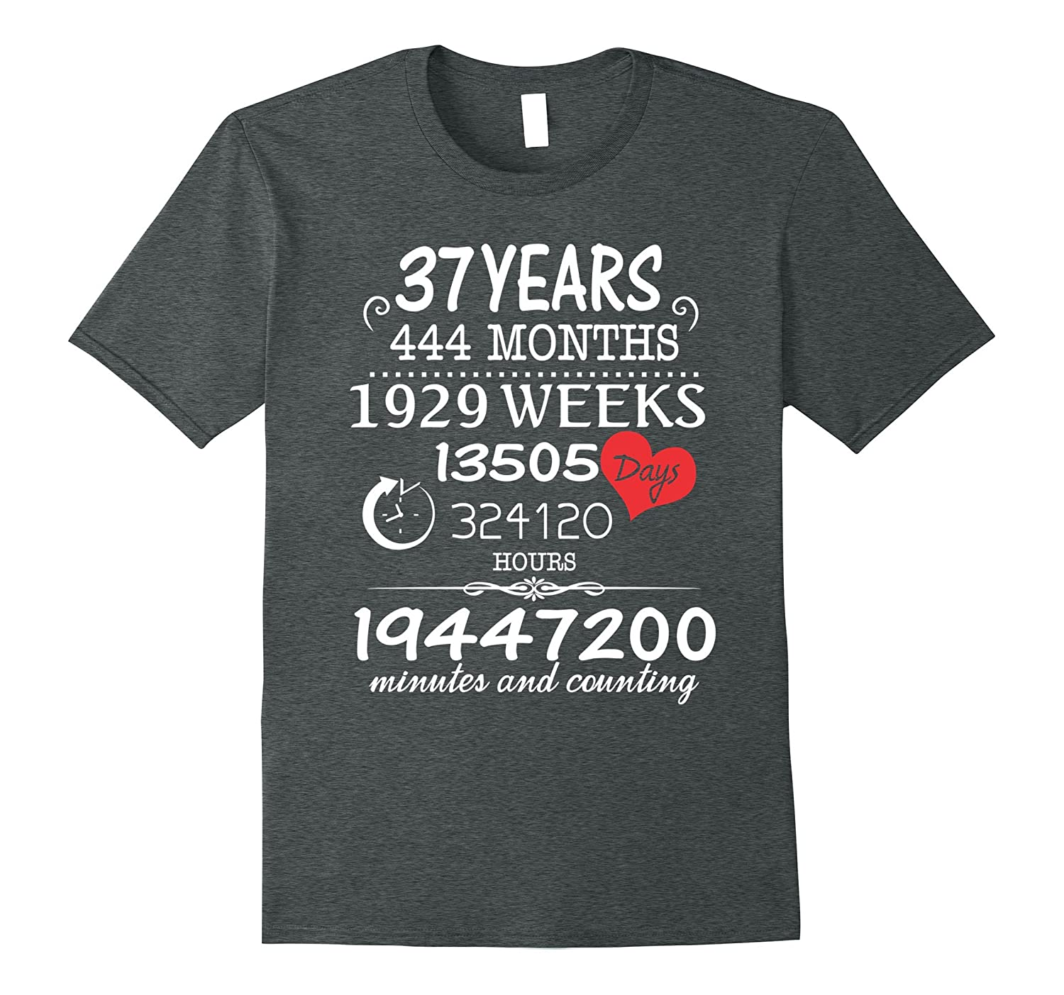 37th Wedding Anniversary T-Shirt – 37 Years Vintage Gift