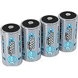 ANSMANN LSD Mono D Akkubatterie 1 2 V/Typ 10000mAh/Hochkapazitiver NiMH Akku mit konstant hoher Leistungsabgabe & Langlebigkeit - ideal für Geräte mit hohem Stromverbrauch 4 Stück