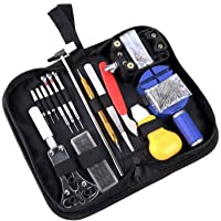 Ohuhu Professional 147 PCS Watch Repair Tool Kit, Watch Case Opener Spring Bar Tools Set Bonus A Hammer with Carrying Case