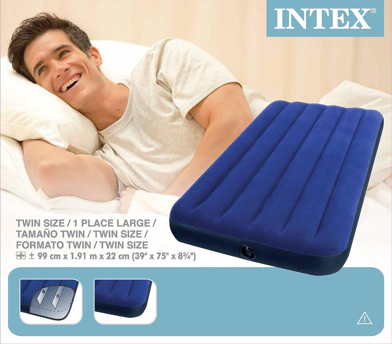 Amazon.com: Intex Classic Downy cama de aire Royal azul ...