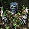 JOYIN Halloween Decorations Skeleton Stakes, Realistic Looking Yard Lawn Garden Stakes, Groundbreakers for Best Halloween Yar