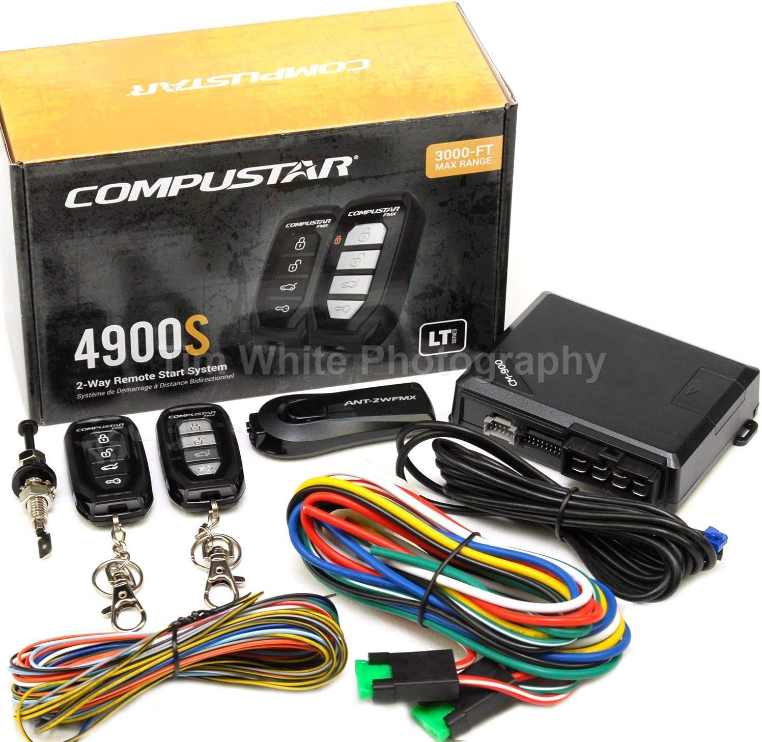 Amazon.com: Compustar CS4900-S (4900S) 2-way Remote Start and Keyless Entry  System with 3000-ft Range: Automotive | Car Alarm Wiring Diagram Pro Track |  | Amazon.com