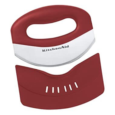 KitchenAid KC173OHERA Mezzaluna with Stainless Steel Blade and Protective Sheath, Red