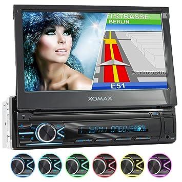 XOMAX XM-VN745 Radio de Coche con Mirrorlink I Navegador GPS I Bluetooth I Pantalla