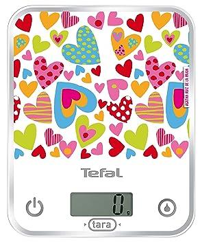 Tefal Optiss Love (Agatha Ruiz de la Prada) - Báscula de cristal extraplana, peso máximo 5 kg, graduación 1 g: Amazon.es: Hogar
