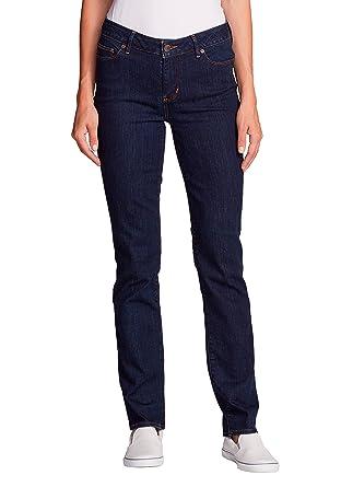 Eddie Bauer Damen StayShape Jeans - Straight Leg - Slightly Curvy  Eddie  Bauer  Amazon.de  Bekleidung 68c8858abf