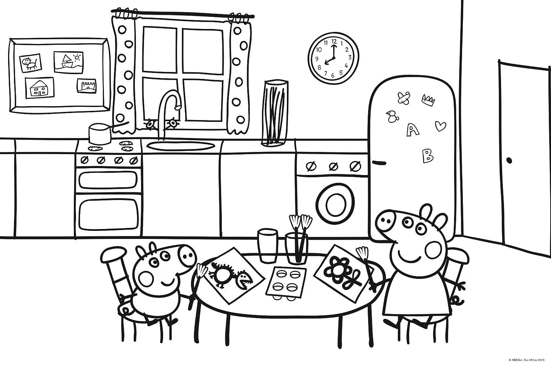 Dibujos peppa pig para colorear dibujos de peppa pig for Dibujos sobre cocina