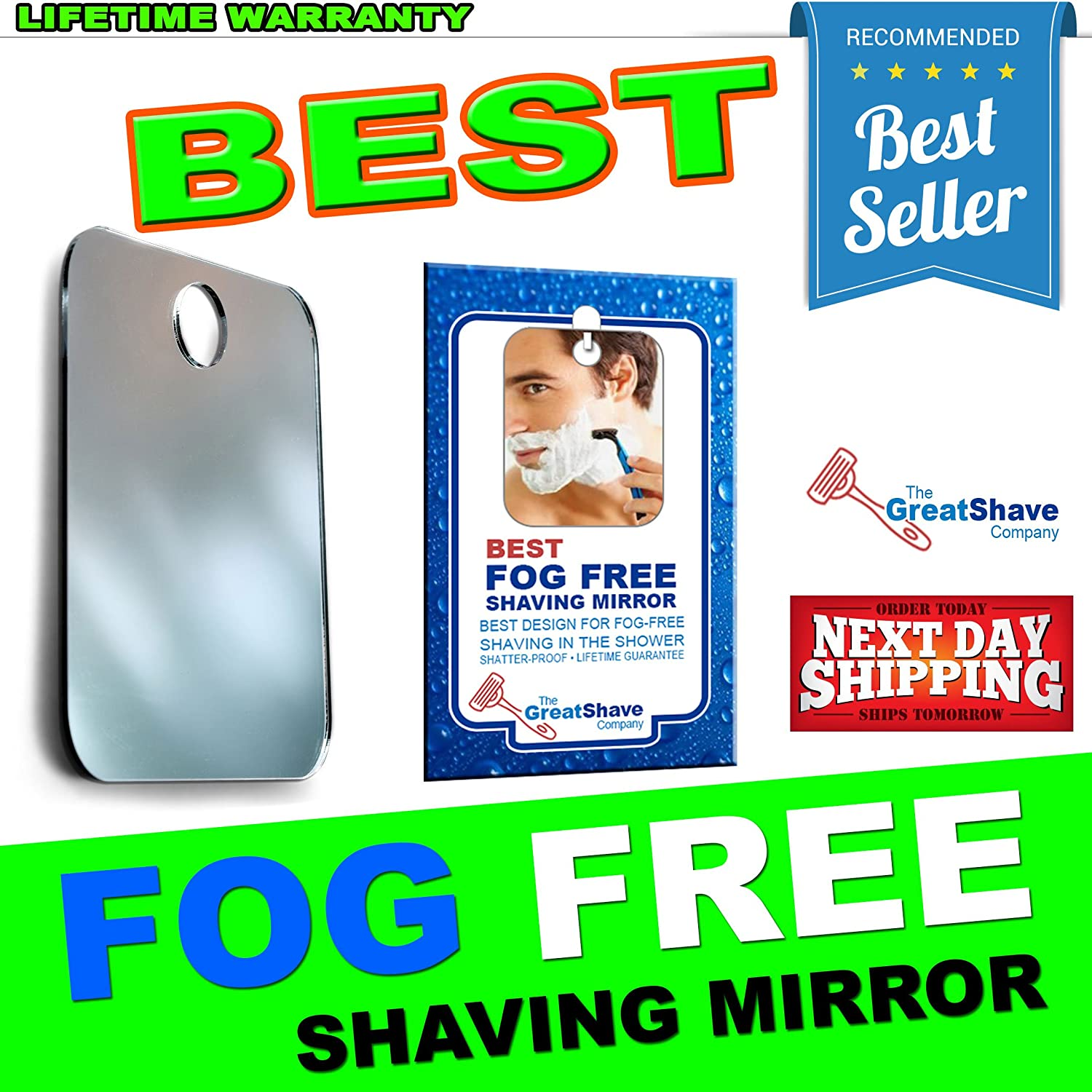 Amazoncom Best Seller Fogless Shower Mirror For Shaving In The