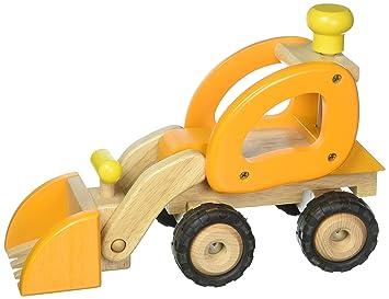 verschiedene Modelle Baufahrzeuge GOKI Fahrzeuge mit Gummibereifung Holzspielzeug