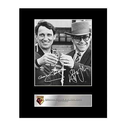 b115c45f73e Graham Taylor   Sir Elton John Signed Mounted Photo Display Watford FC   Amazon.co.uk  Kitchen   Home
