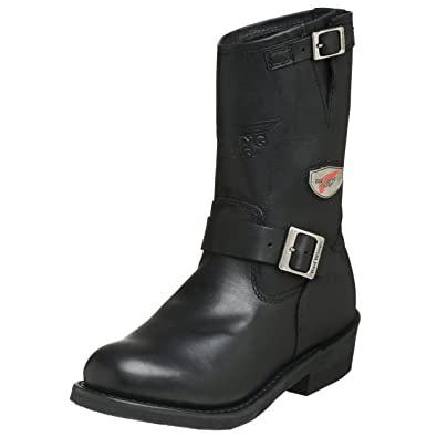 Amazon.com | Red Wing Motorcycle Men's 968 Engineer Boot, Black ...