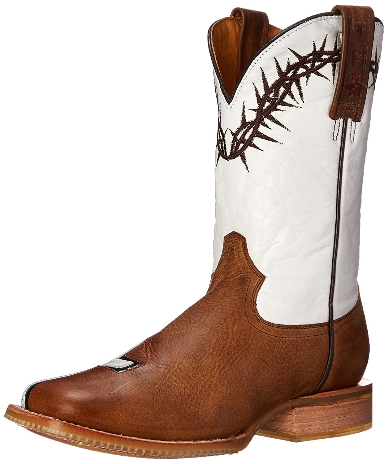 Tin Haul Shoes Women's Between Two Thieves Ladies Western Boot B00NHYX9NQ 6 B(M) US|Brown/White