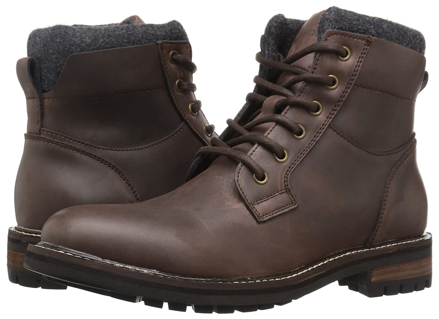 9fe4c4de0a76f Tommy Hilfiger Men s Hamden Leather Dark Brown Ankle-High Leather Boot -  12M  Amazon.co.uk  Shoes   Bags
