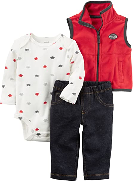 Amazon.com: Del Carter bebé Boys 3 piezas Sports Little ...