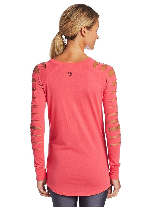 Zumba Haut de fitness à manches longues avec paillettes pour femme Rose  Cosmo xx-large  Amazon.fr  Sports et Loisirs bd2f245f454