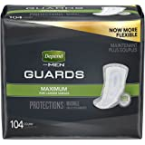 Depend Incontinence Guards for Men, Maximum Absorbency, 52 count, pack of 2