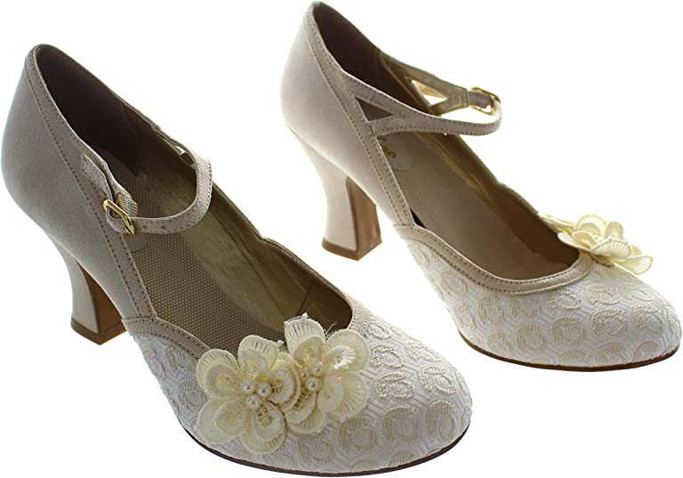 Vintage Wedding Shoes, Flats, Boots, Heels Ruby Shoo Womens Amelia Pumps $81.86 AT vintagedancer.com