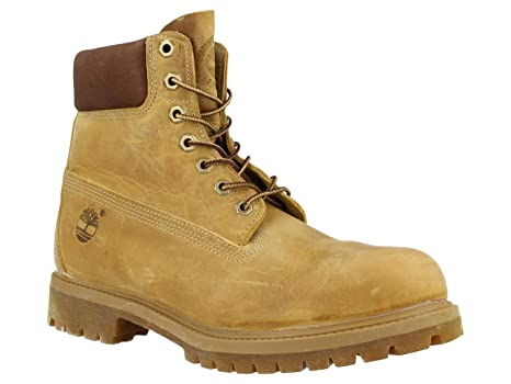 d4127f17 Timberland Heritage 6 In Waterproof, Botas para Hombre, Amarillo (Wheat  Burnished Full Grain