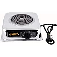 United 2000-Watt With Wire G Coil Hot Plate Induction Cooktop/Induction Cookers/Handy G Coil Cooktop,Silver