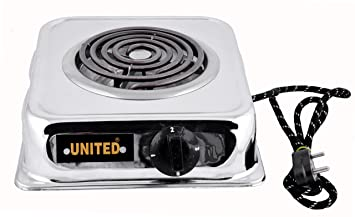 United 2000-Watt With Wire G Coil Hot Plate Induction Cooktop/Induction Cookers/Handy G Coil Cooktop,Silver Induction Cooktops at amazon
