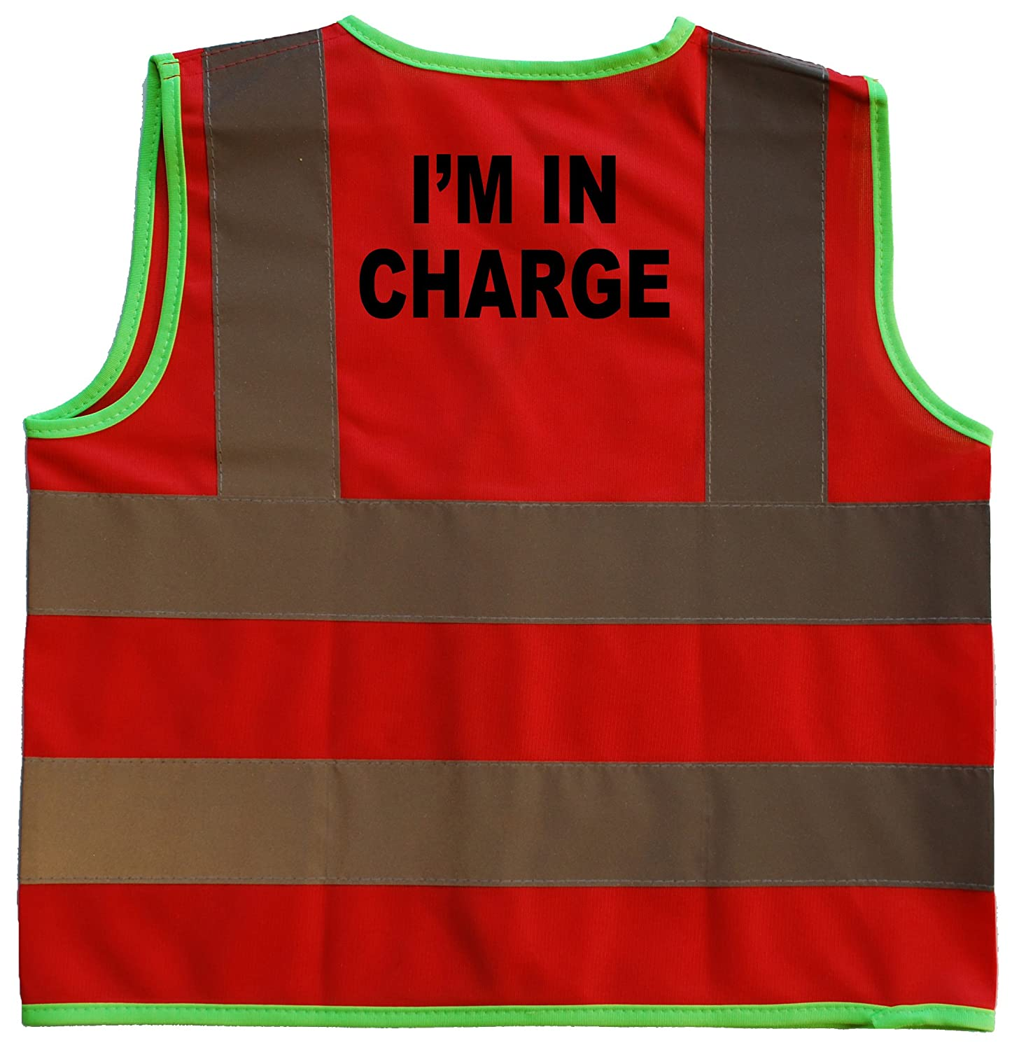 I'm in Charge Baby/Children/Kids Hi Vis Safety Jacket/Vest Sizes 0 to 8 Years Optional Personalised On Front