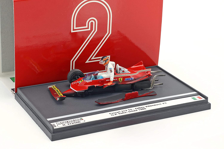 Brumm Gilles Villeneuve Ferrari 312T5  2 Unfall Italien GP Formel 1 1980 1:43