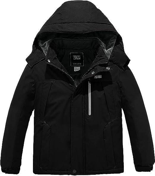 ZSHOW Boys Hooded Ski Jacket Outdoor Waterproof Winter Fleece Lined Snow Coat