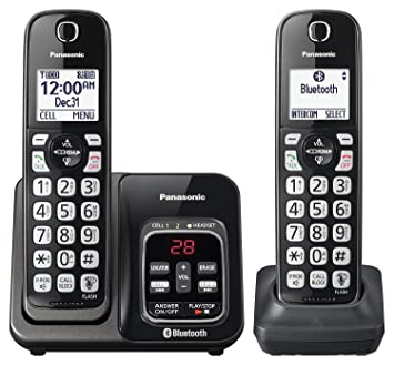 9e02d75b89c Panasonic kx-tgd562 m link2cell Bluetooth teléfono inalámbrico con  asistencia de voz y contestador automático - 2 teléfonos inalámbricos  (Certificado ...
