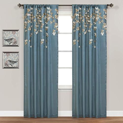 Lush Decor Flower Drops Window Curtain Single Panel
