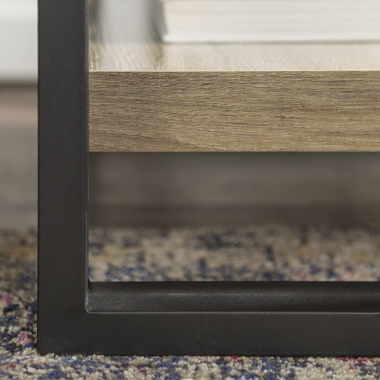 Driftwood Driftwood Walker Edison WE Furniture 24 Industrial Wood Metal Side Table