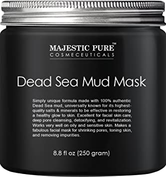 Majestic Pure Natural Dead Sea Mud Mask Facial Cleanser, 8.8 fl oz Signature Club A Rapid Transport C Infused Hyaluronic 1000 Tube of Gold Volumizing Eye Ointment Super Moisturization...
