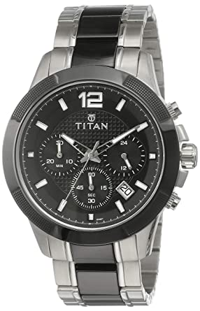 3c5002c0f9a Image Unavailable. Image not available for. Colour  Titan Regalia Ceramics  Analog Black Dial Men s Watch ...