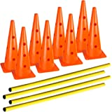 AGORA Hurdle Cone Set - 8 Cones and 4 Poles