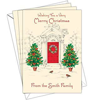 personalised christmas cards pack of 10 a5 size with white envelopes dlx 023