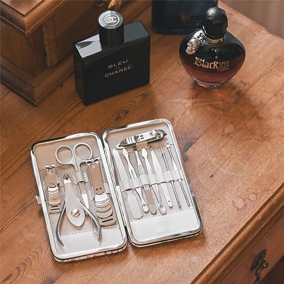 Nicola Spring Kit de manicura/pedicura de 12 Piezas - Diseño Floral - Morado: Amazon.es: Hogar