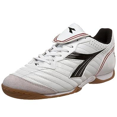 46057f260946f Diadora Men's Scuddetto LT Indoor Soccer Shoe,White/Black Dark /Red,8