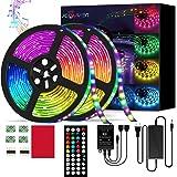 LED Strip Lights 32.9 ft RGB LED Strip Lights SMD 5050 LED Lights,300 LEDs Color Changing LED Strip Lights with 44 Keys…