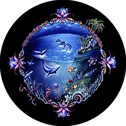c Drop Down menu Sizes Dubois TIRE COVER CENTRAL Dragonfly Escape Spare Tire Cover for 225//75R15 fits Camper Jeep rv Scamp Trailer