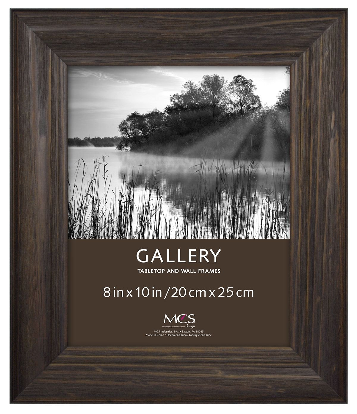MCS 8x10 Inch Wide Wood Frame with Burnt Oak Finish (47610)