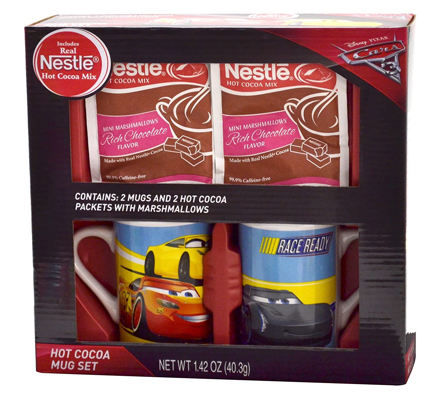 Frankford Candy Company Disney Cars 3 Nestle Cocoa Mug Gift Set, Milk Chocolate