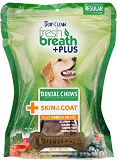 product image for Tropiclean Dental Chews For Dogs