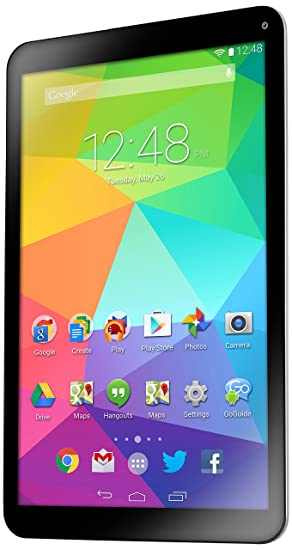 GoTab GBT10 10-Inch Tablet PC (Black) - (ARM A9 Quad Processor 5 2 GHz, 16  GB Memory, Android 4 4 KitKat)