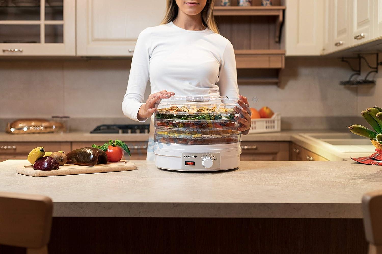 premiertech pt-de5/d/éshydrateur d/éshydrateur fruits l/égumes viande herbes /à 5//étages temp/érature r/églable de 35//à 70/degr/és 245/W avec ventilateur