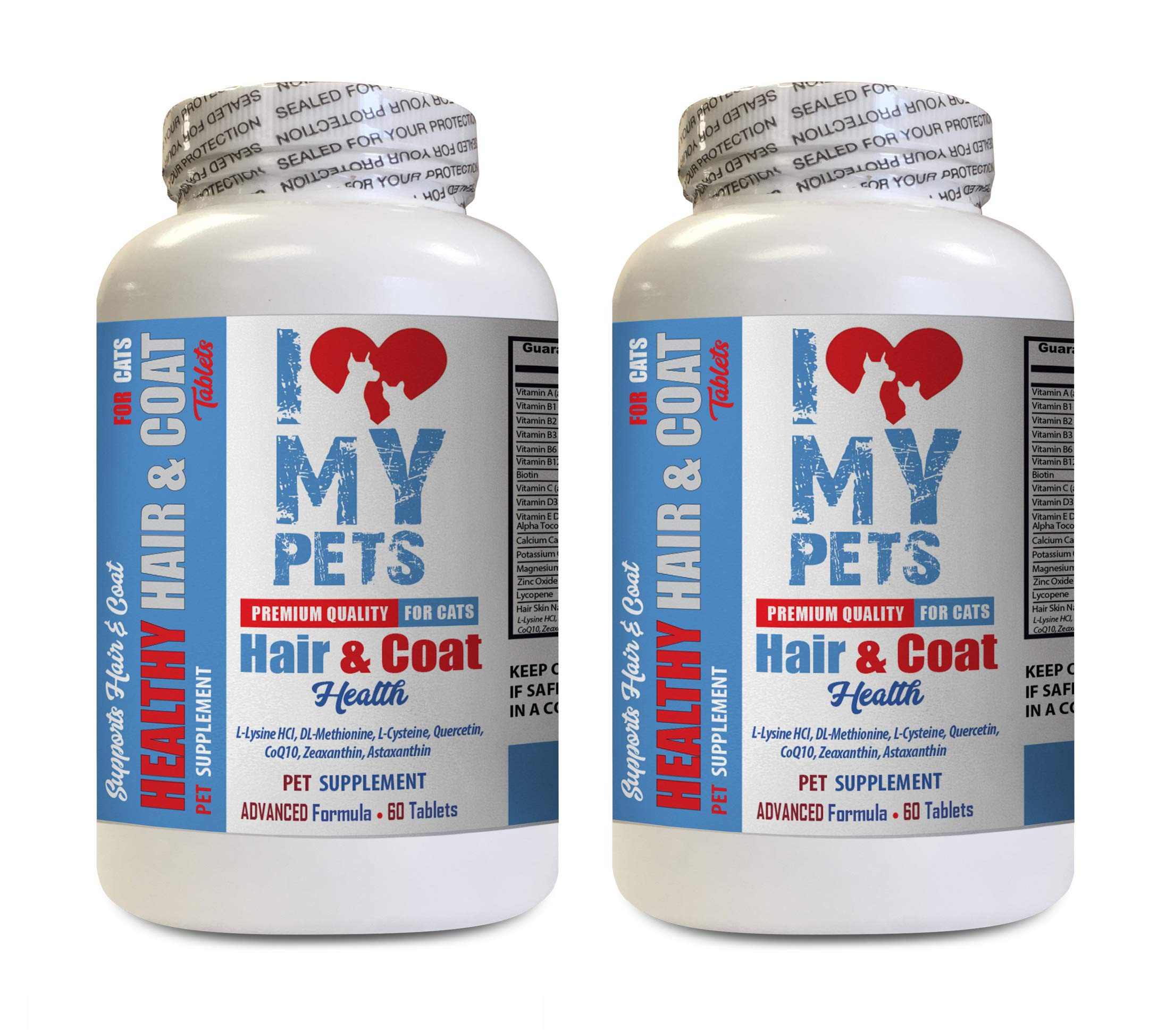 I LOVE MY PETS LLC cat Healthy Skin - CAT Hair and Coat Health - Healthy Skin - Premium Quality Treats - cat Vitamin c - 2 Bottles (120 Tablets) by I LOVE MY PETS LLC