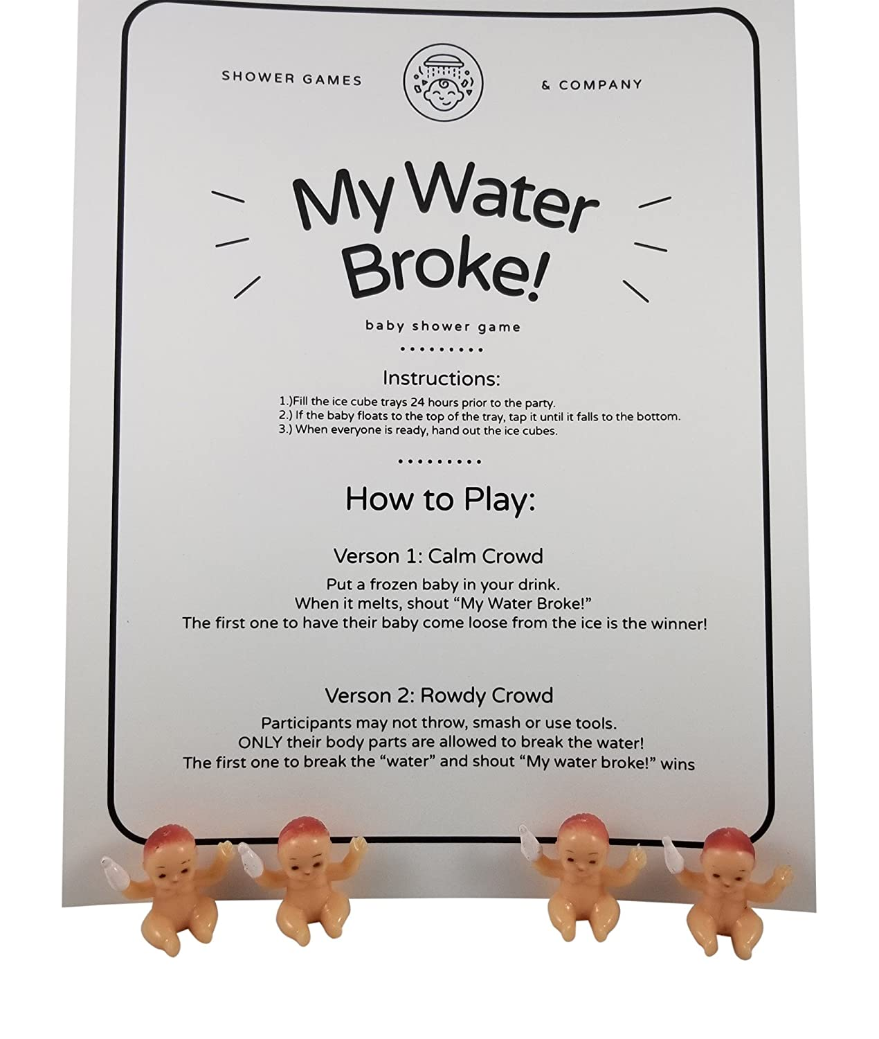 Amazon My Water Broke Baby Shower Game With Tiny Babies For Ice