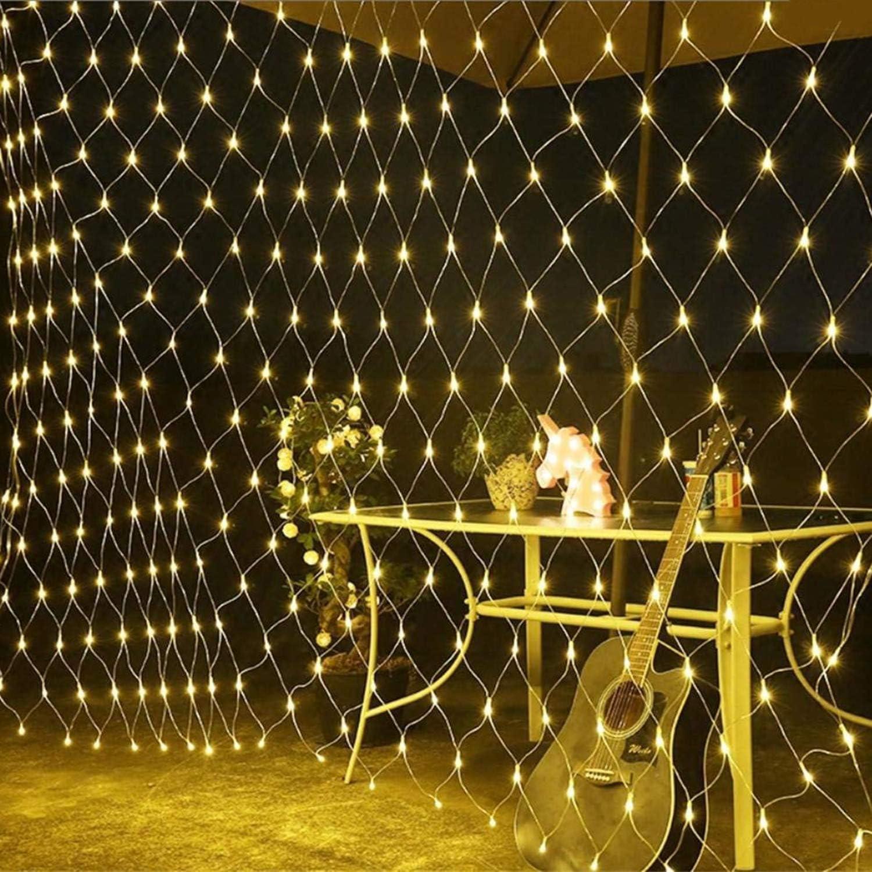 Ciel /Étoil/é Festival De Mariage Lumi/ère 8 Types De Mode D/éclairage Lumi/ère D/écorative Murale Imperm/éable Ext/érieure AIBAB Filet De P/êche /À La Lumi/ère LED Lumi/ère Jaune