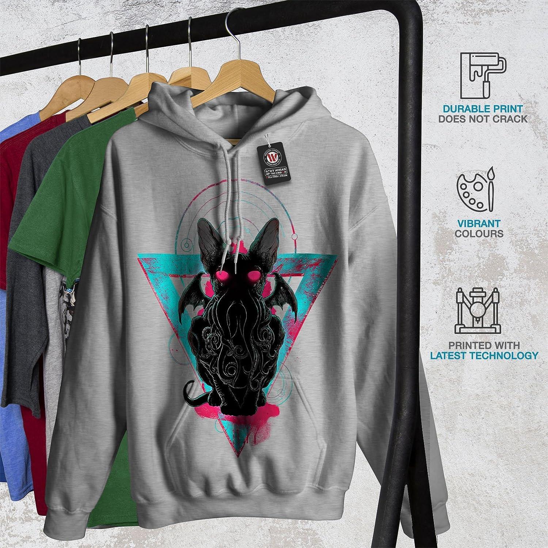 Wellcoda Evil Satan Animal Mens Hoodie Demon Denim Hooded Sweatshirt