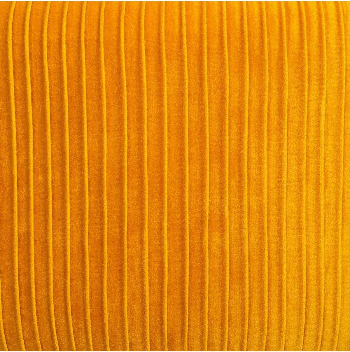 Fauteuil en Velours Ocre pliss/é H 78 cm Solaro Atmosphera